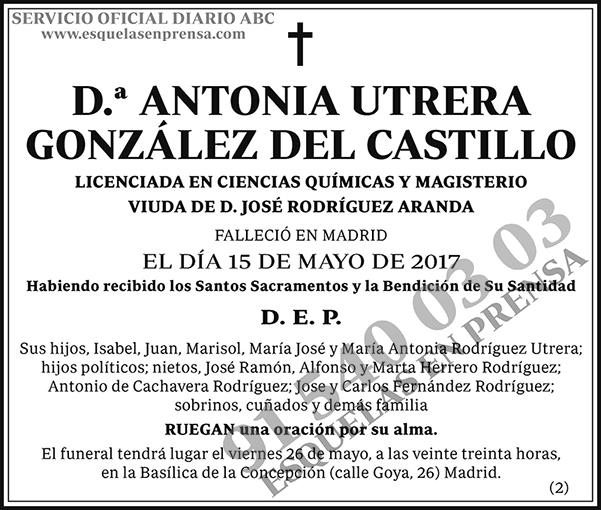 Antonia Utrera González del Castillo